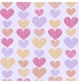 Hand drawn stripped hearts seamless pattern vector image vector image