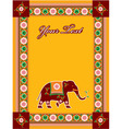 hindu template with elephant vector image vector image