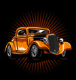 hot rod king vector image
