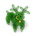icon puppy of christmas tree branches vector image vector image