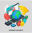 internet security isometric design concept vector image