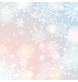 light color background with snowflakes and stars vector image