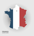 map of france in color of national flag vector image vector image
