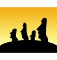 moai statues vector image vector image