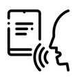 notebook human voice control icon vector image