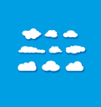 objects clouds set vector image vector image