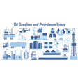 oil energy power gas industry icons vector image vector image