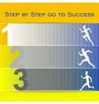 people white silhouette running towards their goal vector image