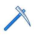 pick axe line icon vector image vector image