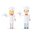 profession chef cooking man woman vector image vector image