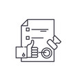 quality control system line icon concept quality vector image vector image