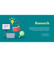 Research Web Banner Website template vector image vector image
