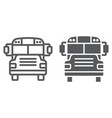 school bus line and glyph icon school and vector image vector image