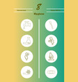 set line icons of hygiene theme vector image vector image