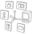 set of fan switch vector image