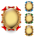 Set of the oval labels vector image vector image