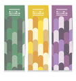 Set Of Three Colorful Vertical Banners vector image vector image