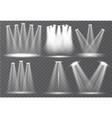 set scene illumination transparent effects vector image vector image