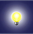 shining light bulb on a dark background vector image vector image