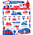 soccer football sport club landing page template vector image