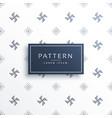 swastik symbol minimal pattern background vector image vector image