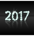 Text from diamonds 2017New Year Numbers number vector image