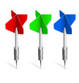 three colorful darts on white background for vector image