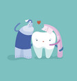 toothpaste toothbrush and tooth are friend vector image