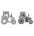 tractor line and glyph icon farming vector image vector image