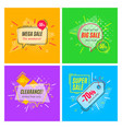 trendy geometric banners speech bubbles sales vector image