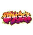 urban word in graffiti style vector image