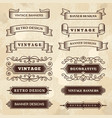 vintage banners wedding flourish ornament grunge vector image vector image
