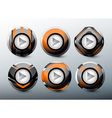 web orange buttons vector image