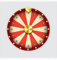 wheel fortune isolated red on white eps 10 vector image