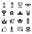 win and success icons set vector image vector image