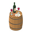 wine tasting isometric vector image vector image