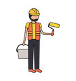 worker construction tool vector image vector image