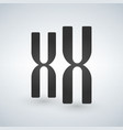 xx chromosomes icon style is flat symbol grey vector image