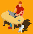 a freelance worker vector image