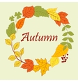 Frame border of autumn leaves and clovers vector image