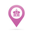 temple monastery map pointer icon marker gps vector image