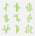 bamboo icon set vector image