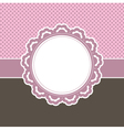 girly frame vector image