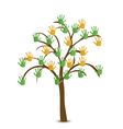 Tree with hand vector image