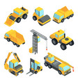 3d transport for construction industry vector image vector image