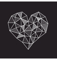 Abstract geometric low poly line heart vector image vector image