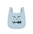 angry evil plastic bag flat vector image
