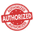 authorized grunge rubber stamp vector image