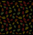 autumn seamless pattern with leaf vector image