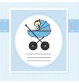 Birth Card boy vector image vector image